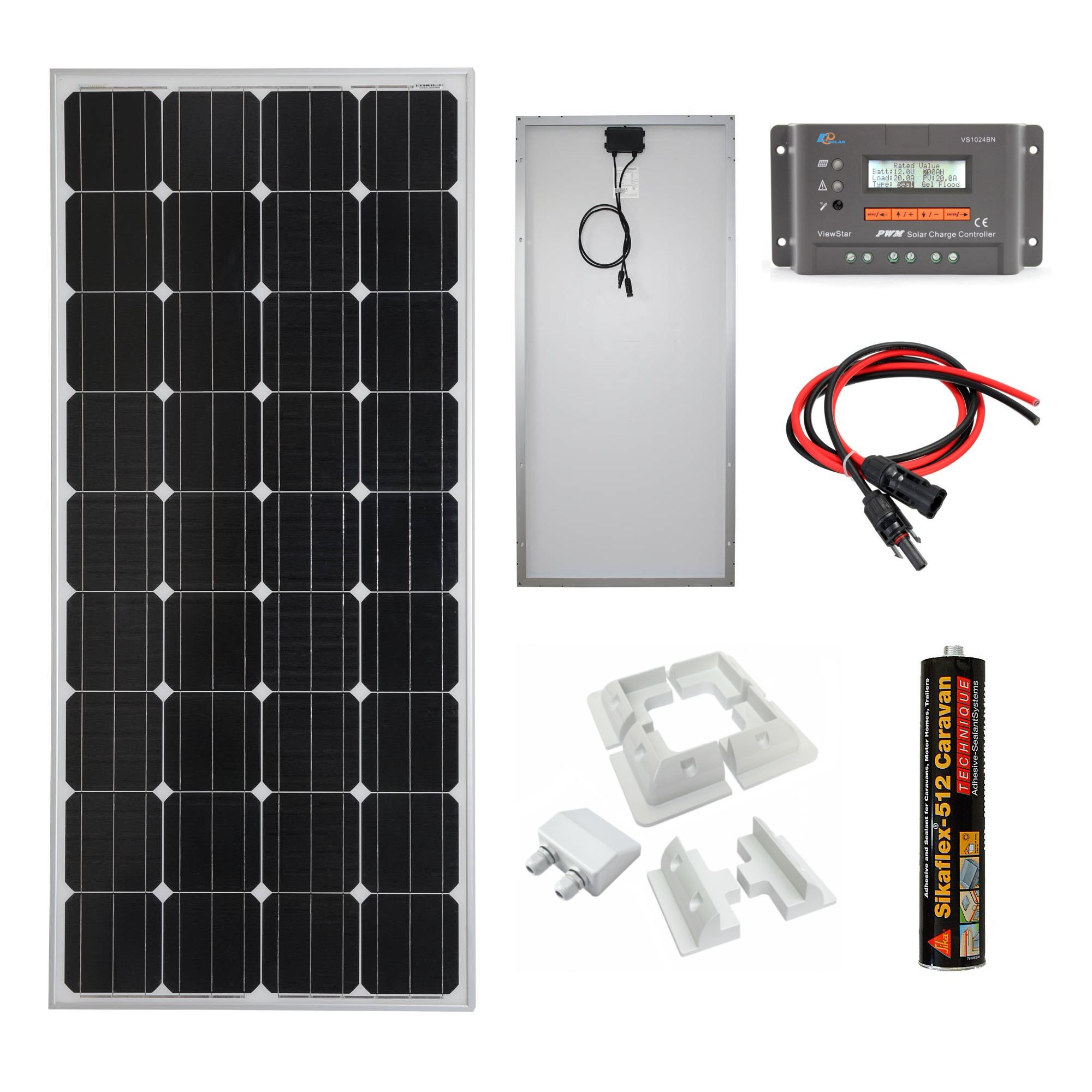 100w 12v Mono Crystalline Solar Panel Charging Kit Sniper Automotive Notes This Is A Simple Charger Circuit That Uses